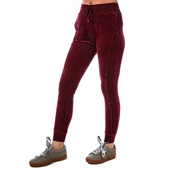 6231a9673adc Puma Womens Womens Fenty Velour Fitted Track Pants in Port - 6 Purple  Puma   Amazon.co.uk  Clothing