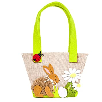Alert Party Supplies Toy Cute Gift Easter Bunny Kids Candy Decoration Egg Basket Storage Home Decor Flower Handbag Rabbit Shopping Bags