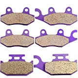 ECCPP Front and Rear Kevlar carbon Brake Pads For YAMAHA Rhino 660 YXR660 2004-2007 2005 2006