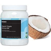 Amazon Brand Solimo Organic Virgin Coconut Oil, Unrefined, 54 ounce