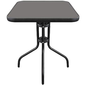 Wohaga Table de Bistrot Ø60cm Plateau de Table en Verre ...
