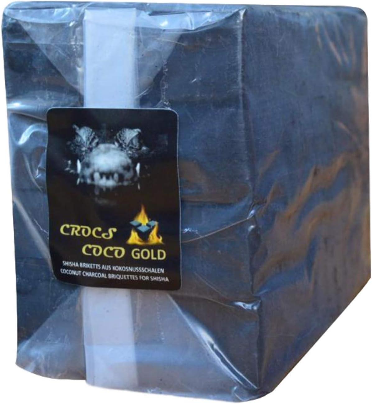 Cross Coco Gold I carbón para shisha I carbón de coco con larga duración I pocas cenizas I baja generación de humo I carbón natural sostenible cubo con calidad premium I 20 kg Gastrobag