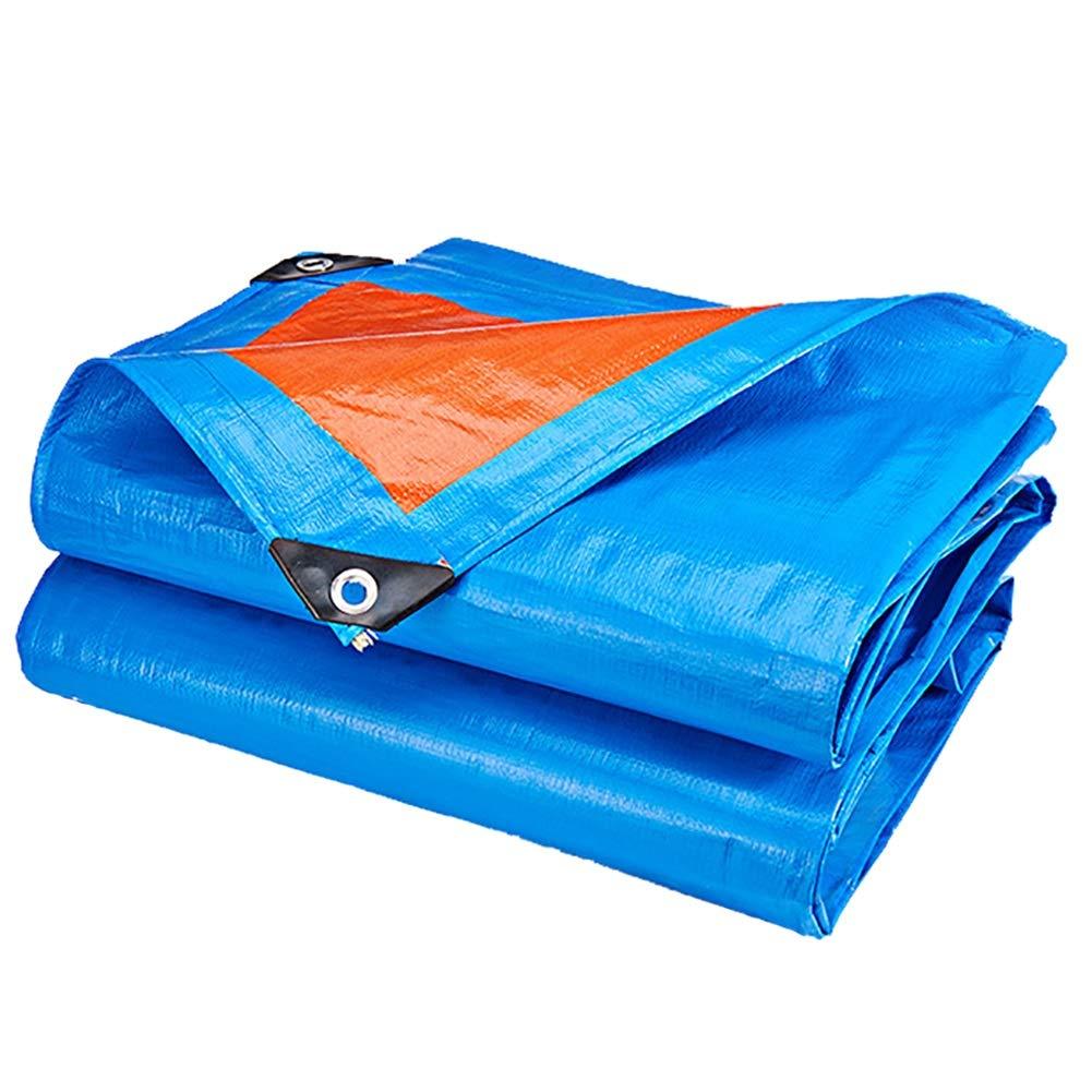 AJZGF Im Freien Wasserdichte Plane Sonnencreme schwere Outdoor-Leinwand Plane Zelt Gemeinsame Markise Sonnencreme Markise (Farbe : Blau, größe : 5×4m)