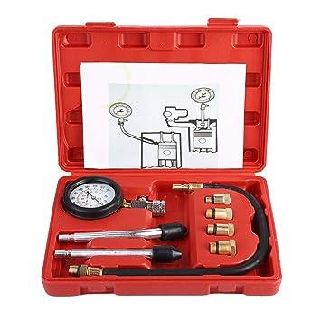 Duokon Juego de herramientas de diagnóstico de fugas del kit del medidor del probador de compresión ...