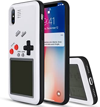 Yoedge Game Boy Funda para iPhone 8, Cárcasa Antigolpes Game Console Cover con Graciosas Tetris Games Sistema Incorporado Bumper Case para Apple iPhone 8/7 Smartphone (Blanco): Amazon.es: Electrónica
