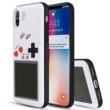 e8bddb895c7 YOEDGE Game Boy Funda para iPhone X, Cárcasa Antigolpes Game Console Cover  con Graciosas Tetris Games Sistema Incorporado Bumper Case para Apple iPhone  X/10 ...