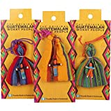 Small Guatemalan Worry People Doll & Bag Set - Assorted by Mayan People