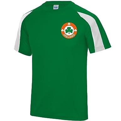 Mens Customisable Republic of Ireland Eire Style Home Football Shirt ... 04f1696f5