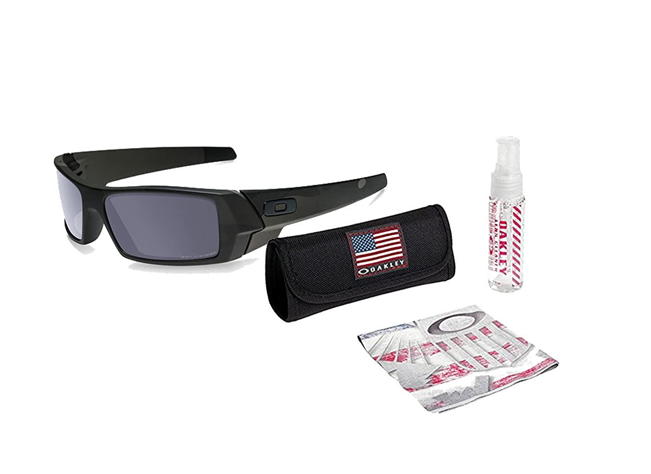 Amazon.com: Oakley Gascan Sunglasses (Multicam Black Frame/Gray Lens) with  USA Flag Lens Cleaning Kit: Clothing