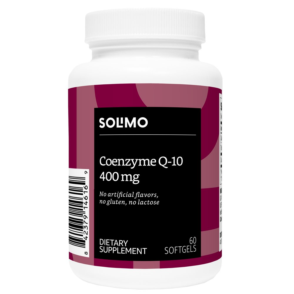 Amazon Brand - Solimo Coenzyme Q-10 400mg, 60 Softgels, Two Month Supply