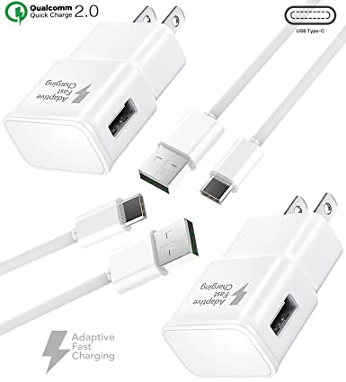 Amazon.com: Samsung Galaxy S8 Charger. Adaptive Fast Cable ...