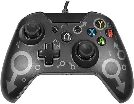 Mando Xbox One, Xbox One S, Xbox One X, Xbox One Elite controlador cableado compatible con Windows PC 7/8/10, xbox one controller soporte y controles de audio: Amazon.es: Videojuegos