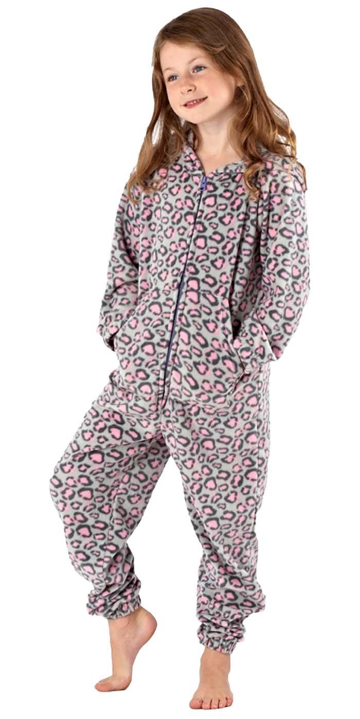 Girls Selena Secrets Heart Design Warm Onesie Pyjama Sleepsuit Nightwear Lounge Wear