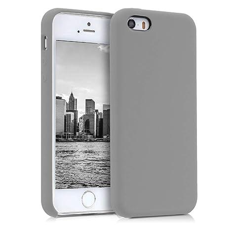 kwmobile Funda para Apple iPhone SE / 5 / 5S - Carcasa de [TPU] para teléfono móvil - Cover [Trasero] en [marrón Topo]