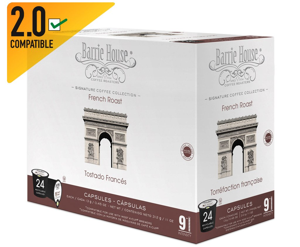 Amazon.com : Barrie House French Roast Single Cup Capsule (96 Capsules) : Grocery & Gourmet Food