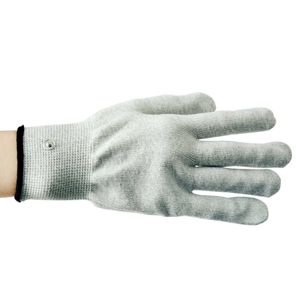 20 Pairs Silver Fiber Conductive Massage Gloves for Tens/ems Machine to Stimulate Blood Circulation, 22cm Long