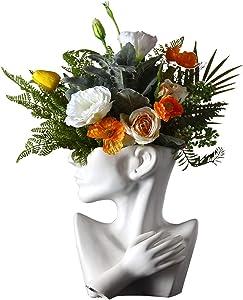 KatoonX Ceramics Greek Statue Face Vase Creative Sculpture for Home Decoration
