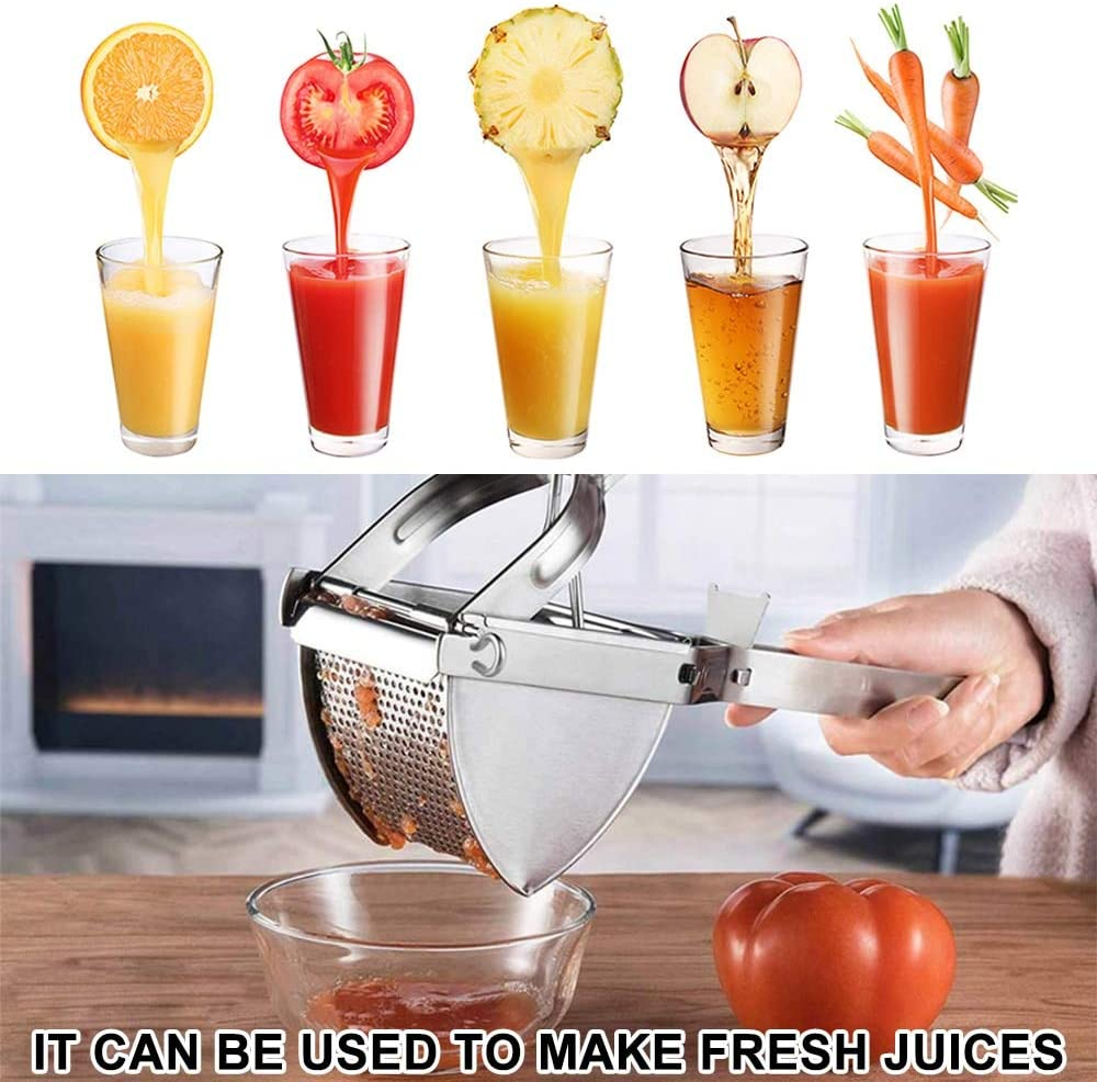 Stainless Steel Potato Mashers Can for Fruit Vegetable Comfortable to Use No Lump Free Easy to Hold Well Made