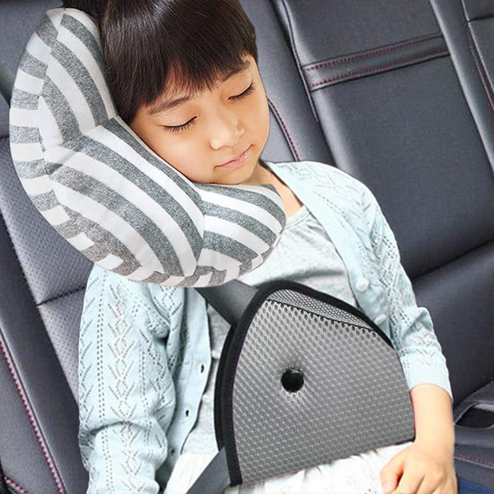 DODYMPS Car Seat Travel Pillow Neck Support Cushion Pad And Seatbelt Adjuster For Kids Safety Belt Sleeping Cars Strap