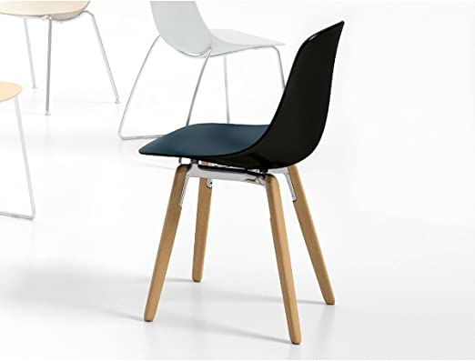 Infiniti – Stuhl zweifarbig Design Pure Loop binuance Gris