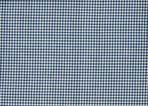French Country Gingham Check Nautical Blue Tailored Valance Lined Cotton (Ecru Gingham Checks)