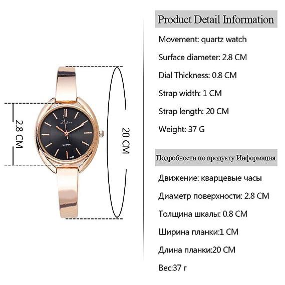 MOZHIYAN Reloj Mujer Pulsera Relojes Moda Mujer Vestido Reloj de Pulsera Señoras Cuarzo Deporte Rosa Oro Reloj Dropshiping, a: Amazon.es: Relojes