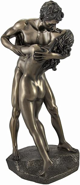Contemporary MALE /& FEMALE Nude Wall Décor Woman MAN Statue EMBRACING LOVE