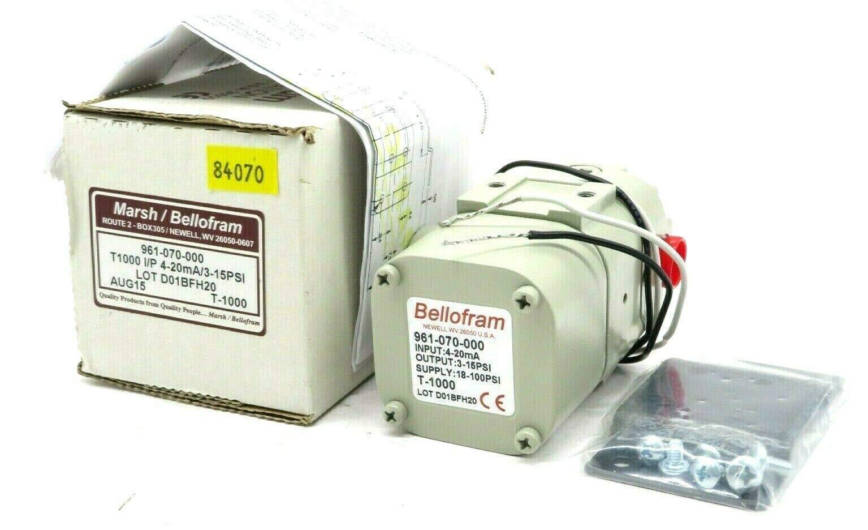 Bellofram 961-070-000 Pressure Transmitter, I to P; 3-15 PSI, 4-20 mA by Marsh Bellofram