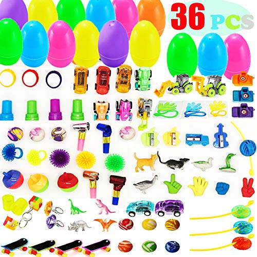 - AISENO 36 Pack Toy Filled Easter Eggs with Toys Inside - Egg Surprise Toy for Kids Easter Baskets, Party Favors Plastic Easter Eggs Decorations