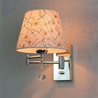 Bootu Lit Chambre Coucher Cristal La De Lampe Tête À Murale Du DWEH9I2Y