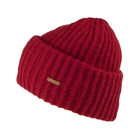 a7e88b70a Barts Hats INES Beanie Hat - Red: Amazon.co.uk: Clothing