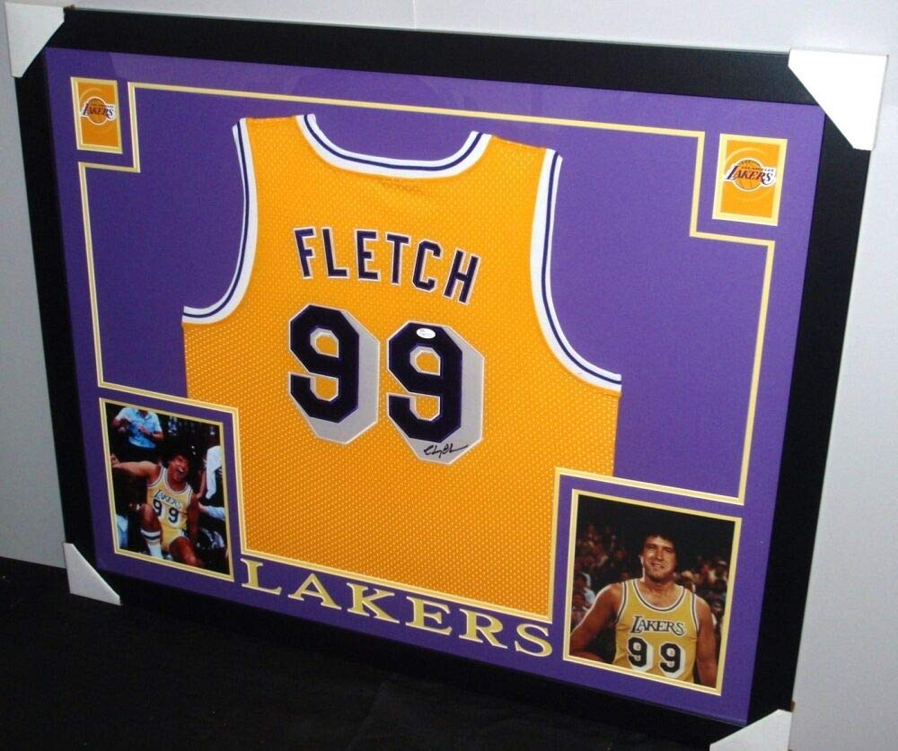 03e4fac6a Chevy Chase Autographed Signed Fletch  99 Lakers 35x43 Deluxe Framed Jersey  - JSA Certified at Amazon s Sports Collectibles Store