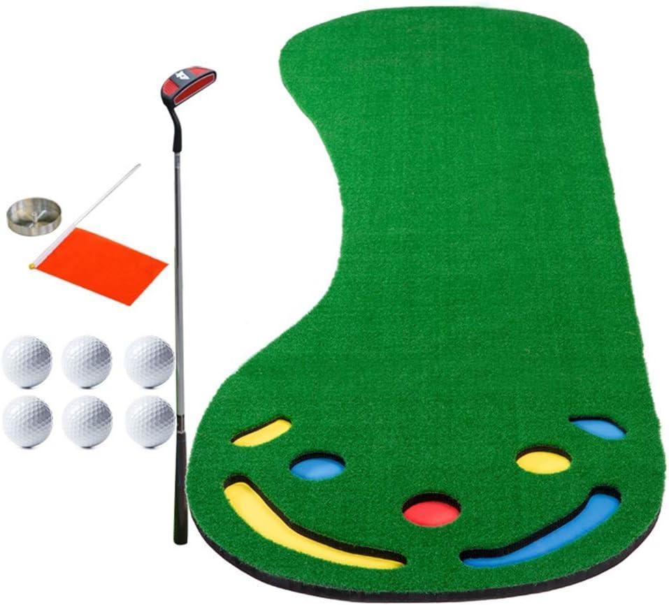 ゴルフマット ゴルフパターグリーンシステムゴルフトレーニングマットプロフェッショナルゴルフ練習マットグリーンロングスプリント屋内屋外パター 室内グリーン (色 : 1.3m, サイズ : Accessories) 1.3m Accessories