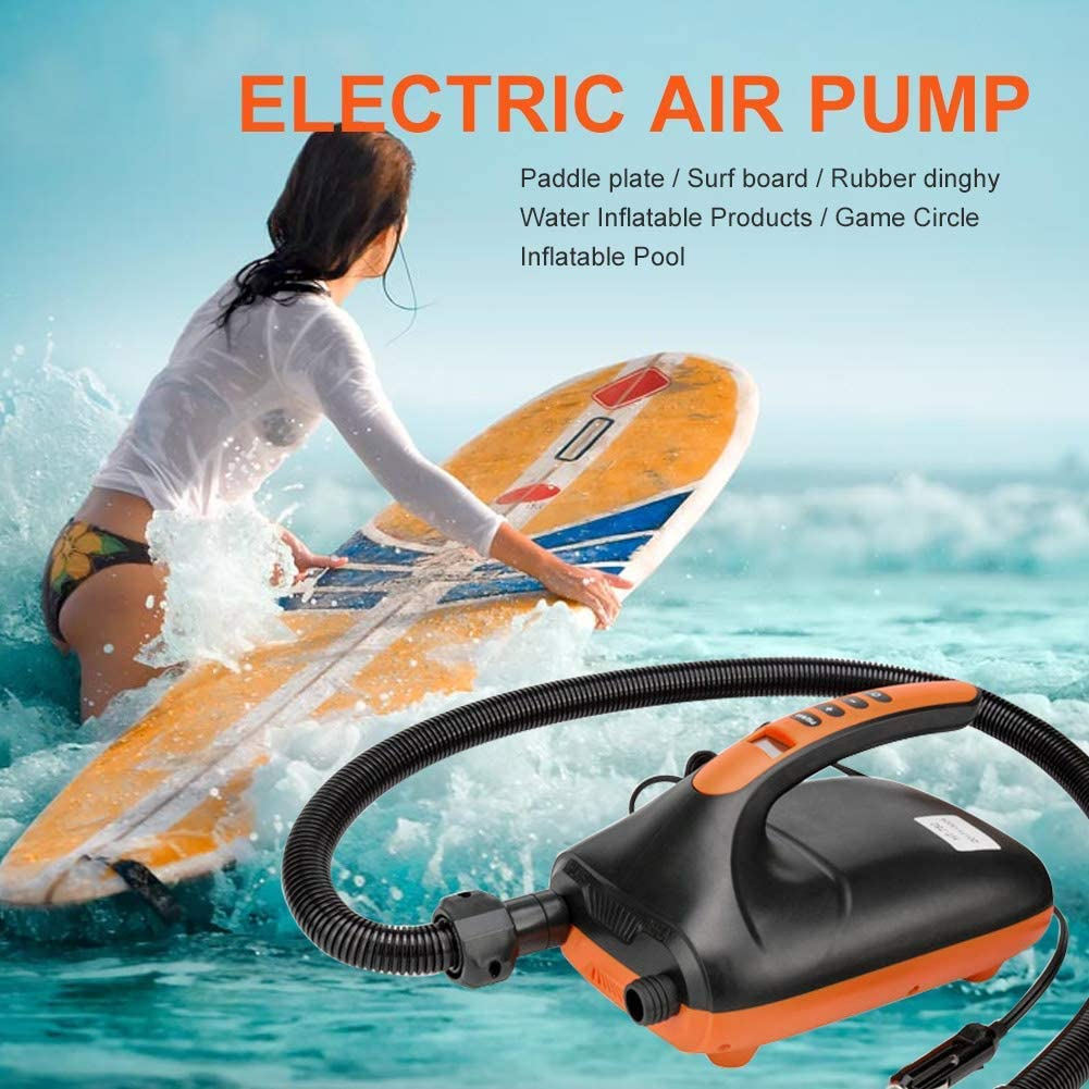 for Air Mattresses Inflatables Boats Tent Stand Up Paddle Boards AOUSTHOP Paddle Board Electric Inflatable Pump Portable,20PSI SUP Pump 12V,with Intelligent Dual Stage Auto-Off Function