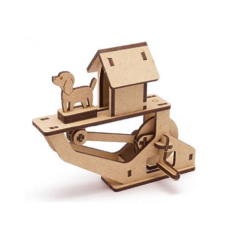 Amazon.com: Mize DIY Wooden Automata Assembly Model kits (Moving ...