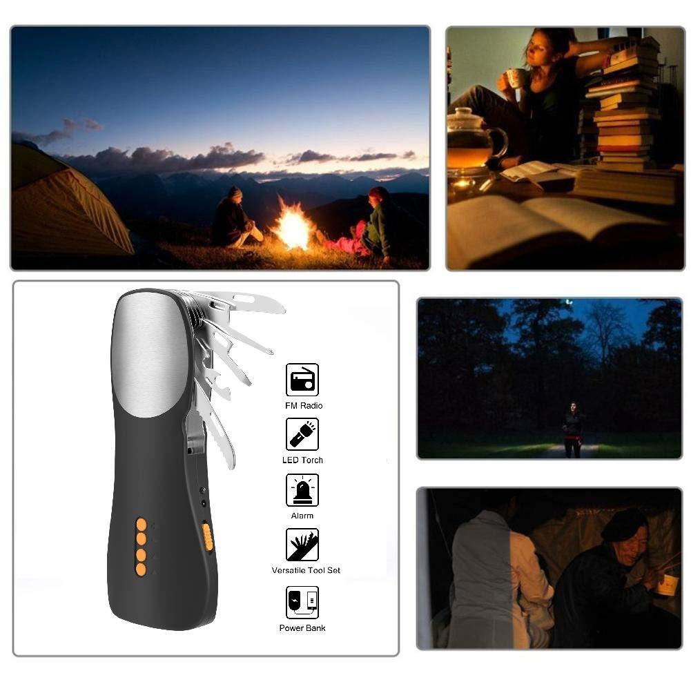 antorcha portátil de emergencia recargable con LED, juego de herramientas multifunción, y un cargador de banco de energía móvil para acampar al aire libre, excursionismo y en casa juego de herramientas multifunción MAIYUANG