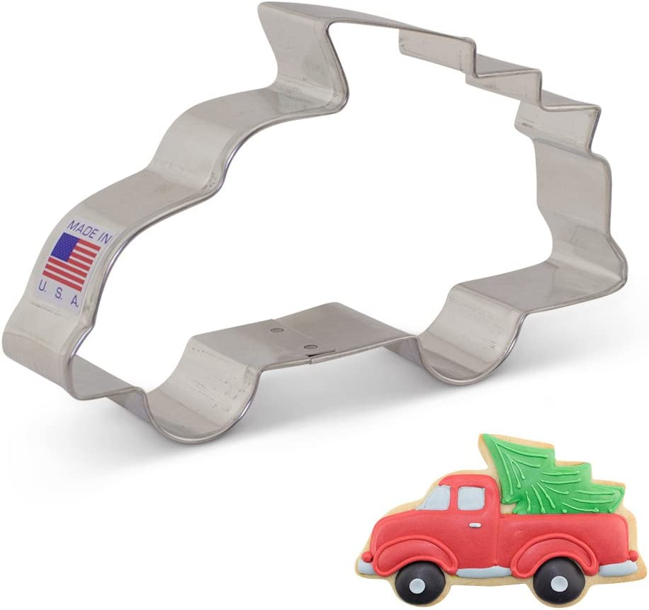 Ann Clark Cookie Cutters Truck/Vehicle with Christmas Tree, 5