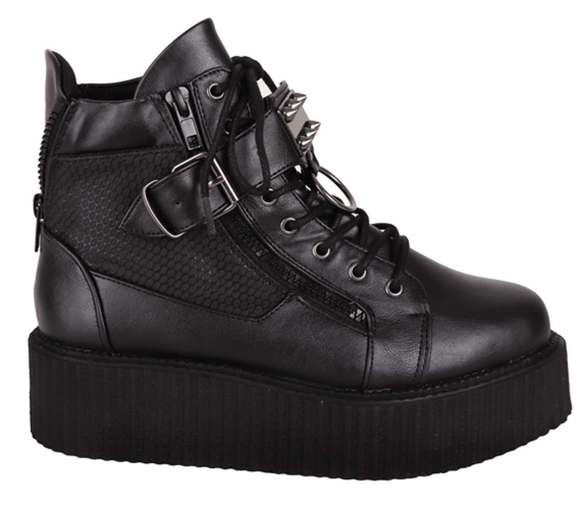 SharpSpirit Steampunk Streetwear Military Combat High Top Platform Mens Boots 4