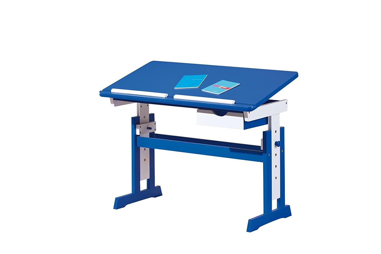 Links - Paint A5 - Scrivania. Dim: 109x55x1.090 h cm. Col: Bianco, Blu. Mat: MDF. 40100600 40100600_blau-109x55 5x63/88cm