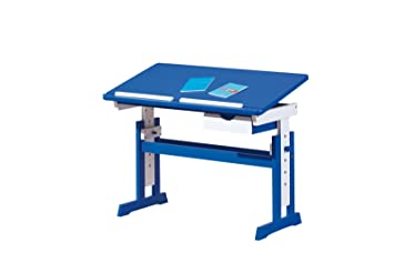 link escritorio infantil color azulblanco