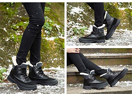 Senximaoyi Katoenen Laarzen Mode Laarzen En Winter Snowboots 4 Kleuren (geel, Bruin, Zwart, Rood) Zwart