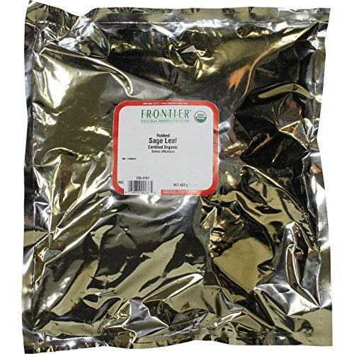 Frontier Sage Leaf Rubbed Certified Organic, 16 Ounce Bag ( Multi-Pack) by Frontier