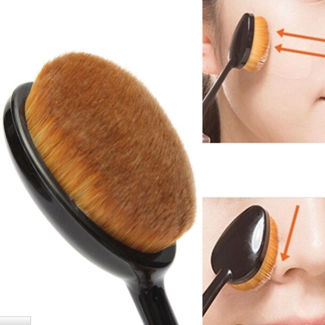 cepillo de dientes cineen Pincel de maquillaje profesional Beauty kosmetikum ovalado líquido Foundation Cepillo de Pro Crema Camuflaje abdeck Concealer ...