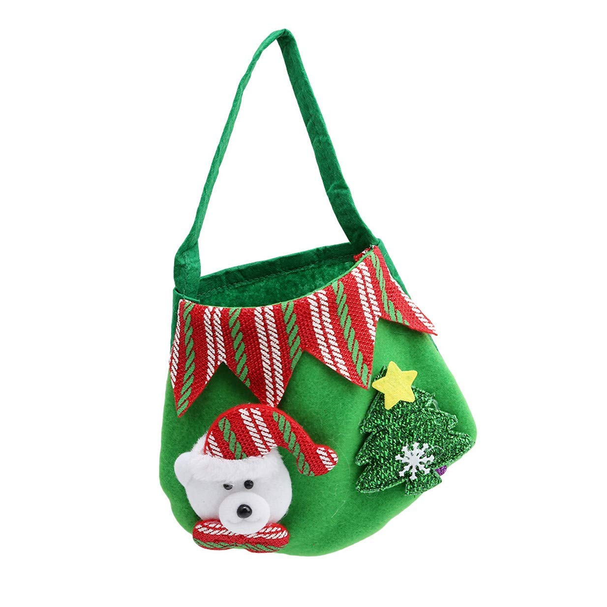 Tcplyn Premium Creative Christmas Apple Sweets Gift Bags New Year Home DecorationsGreen Bear