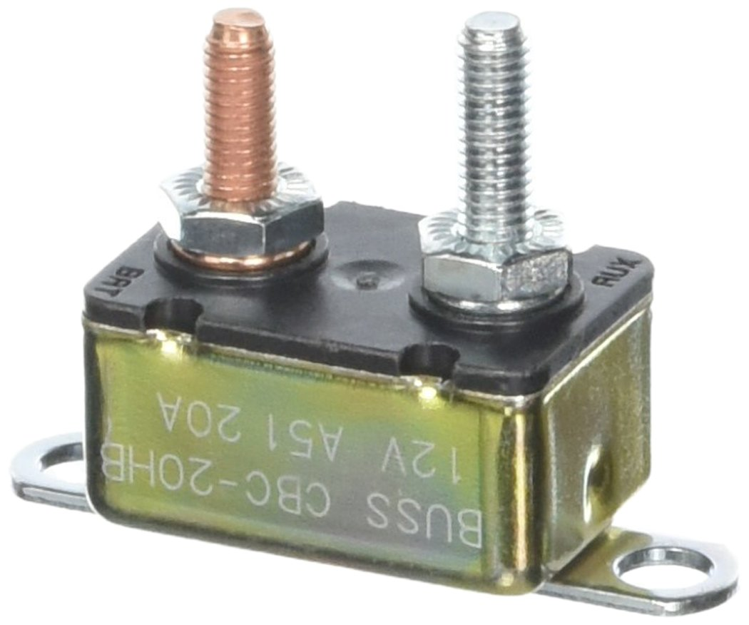 1 Pack Bussmann CBC-20HB Circuit Breaker Type I Heavy Duty Automotive with Stud Terminals and Bracket - 20 A