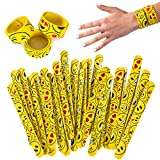 Silicone Slap Bracelets - 30 Pc - Emoticon Slap Bracelets – Silicone Slap Bands - Silicone Slap Bracelet Bulk by Tigerdoe