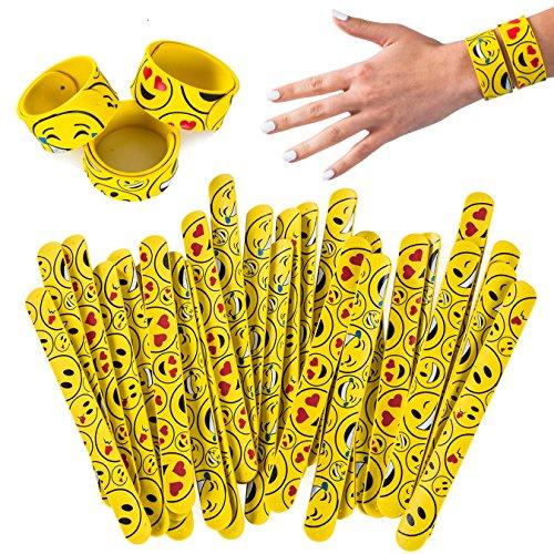 Silicone Slap Bracelets - 30 Pc - Emoticon Slap Bracelets – Silicone Slap Bands - Silicone Slap Bracelet Bulk by Tigerdoe for $<!--$22.77-->