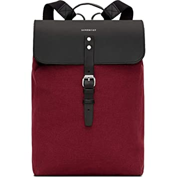 309fc40a8 Sandqvist Alva Backpack | Burgundy: Amazon.co.uk: Luggage