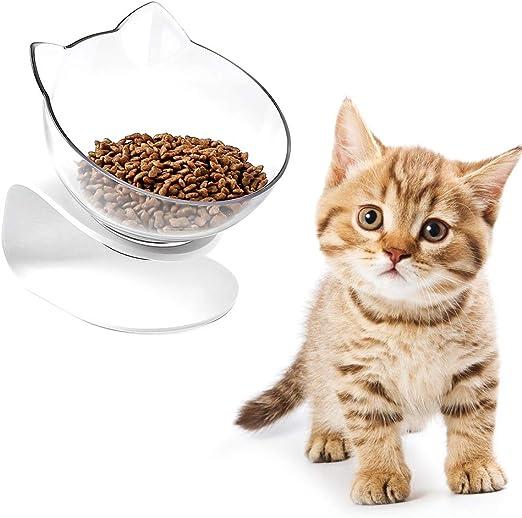 Bclaer72 Cuencos para Gatos, Cuenco Elevado con comedero, Doble ...