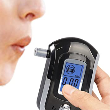 LCD prueba de aliento de polic a Digital Breath Alcohol Tester Analizador detector at-6000 Blowing tipo Drunk driving port til Mini probador de alcohol ...